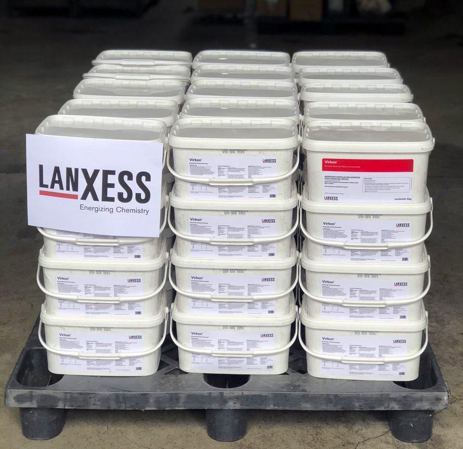 LANXESS doa o equivalente a 100 mil litros de solução desinfetante para o combate à Covid-19