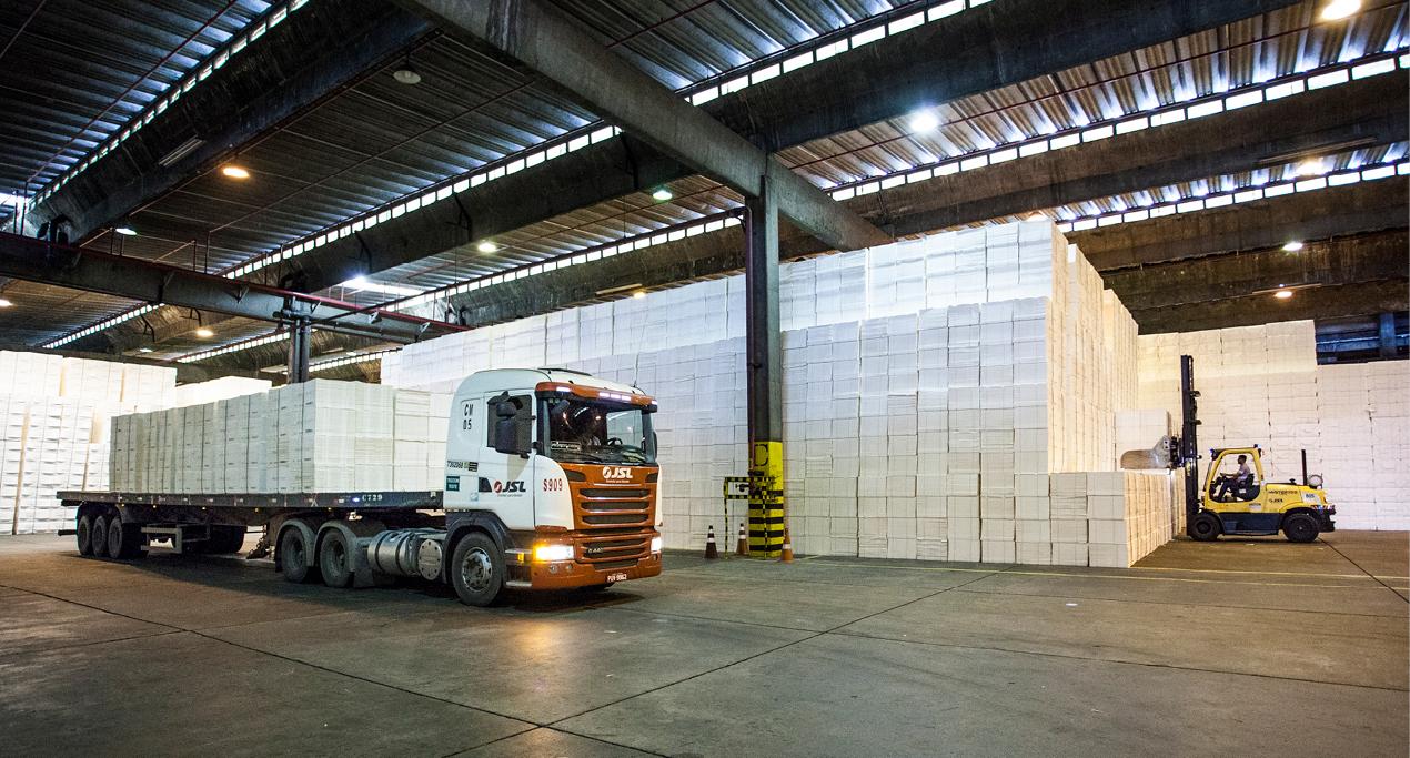 Exportações de celulose e papel alcançam US$ 1,44 bilhão até outubro no MS